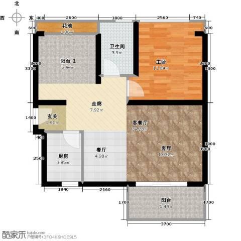 三亚・一山湖1室1厅1卫1厨74.00㎡户型图
