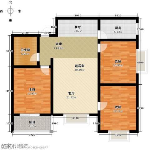 翡翠城第二季第二期3室0厅1卫1厨112.00㎡户型图