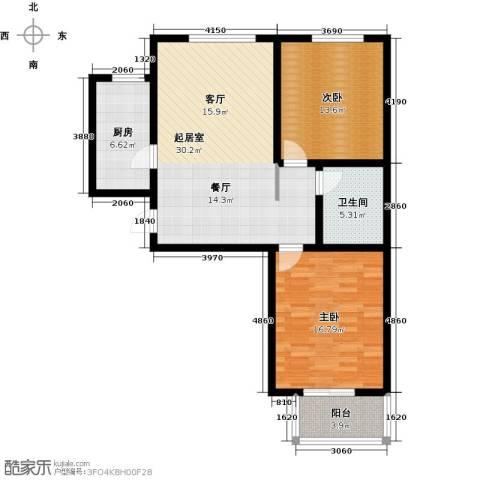 翡翠城第二季第二期2室0厅1卫1厨109.00㎡户型图