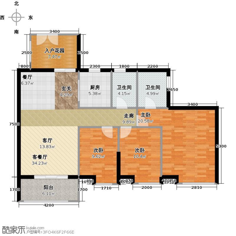 中信西关海125.00㎡10幢0户型3室1厅2卫1厨
