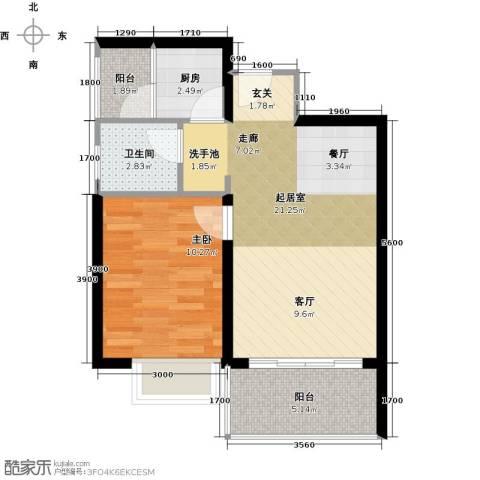 东海阳光1室0厅1卫1厨62.00㎡户型图