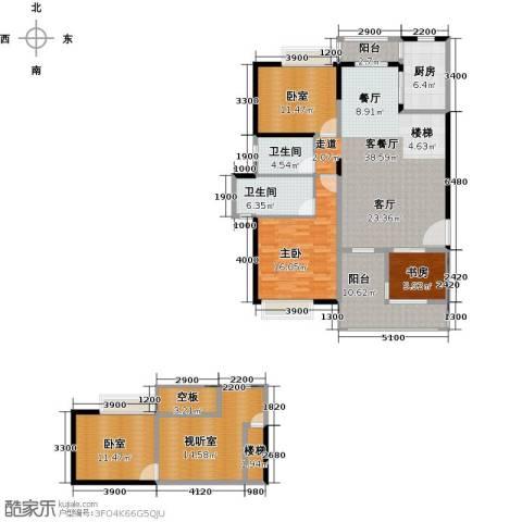 汇景・上层2室1厅2卫1厨188.00㎡户型图