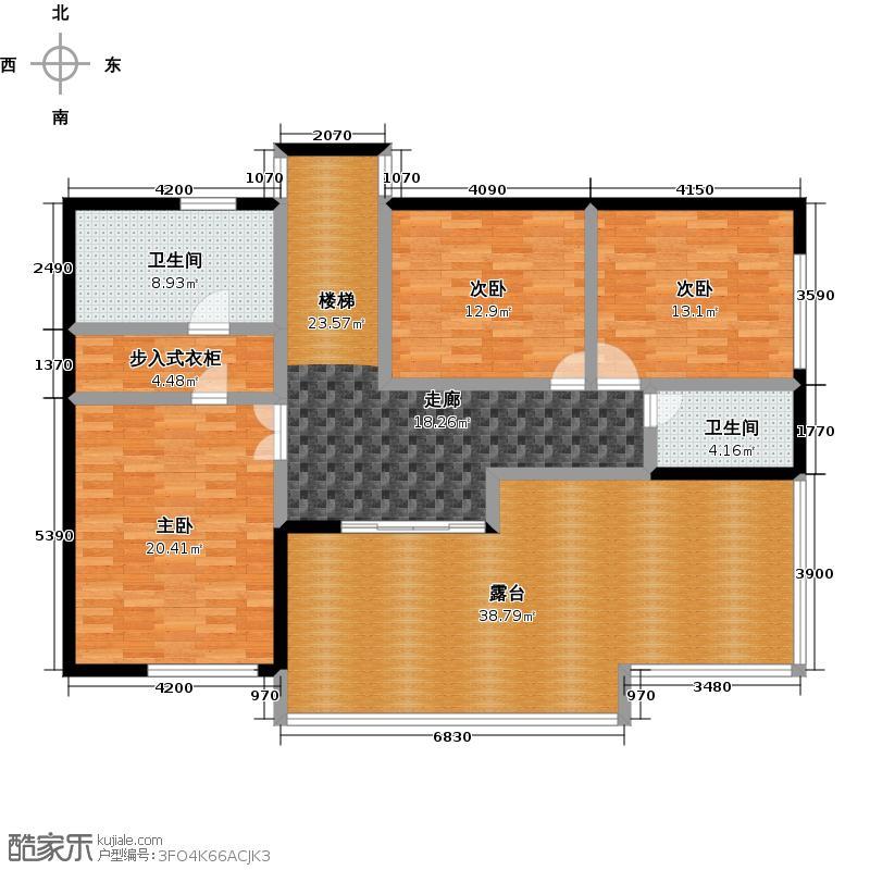 运河岸上的院子泰禾・中国院子AN3二层户型3室2卫