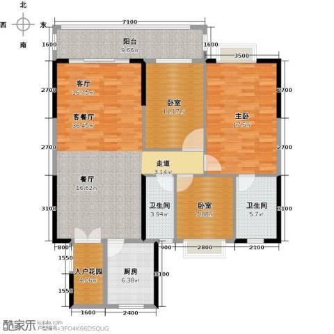 精英世家1室1厅2卫1厨142.00㎡户型图