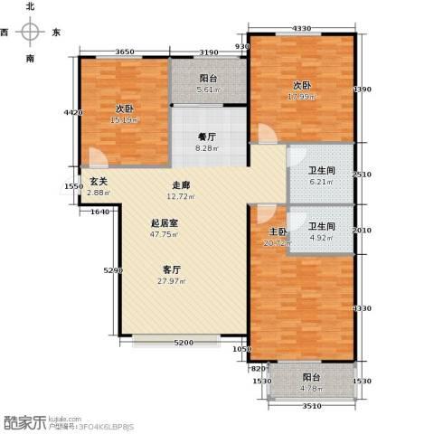 福美公馆3室0厅2卫0厨131.00㎡户型图
