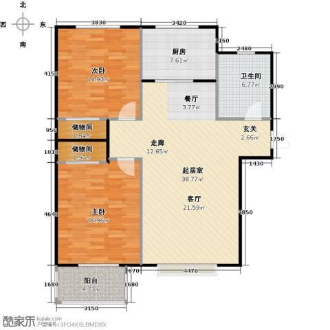 福美公馆2室0厅1卫1厨100.00㎡户型图