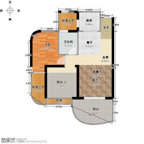 三亚・一山湖1室1厅1卫1厨78.00㎡户型图