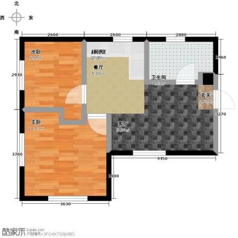 恒瑞・坦城2室0厅1卫0厨65.00㎡户型图