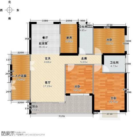 莲湖四季豪园3室0厅2卫1厨152.00㎡户型图