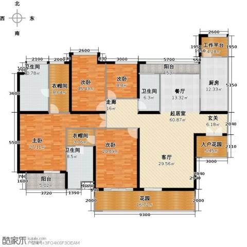 莲湖四季豪园4室0厅3卫1厨303.00㎡户型图
