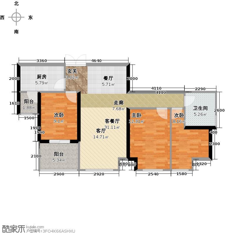 中信西关海108.00㎡8栋0户型3室1厅1卫1厨