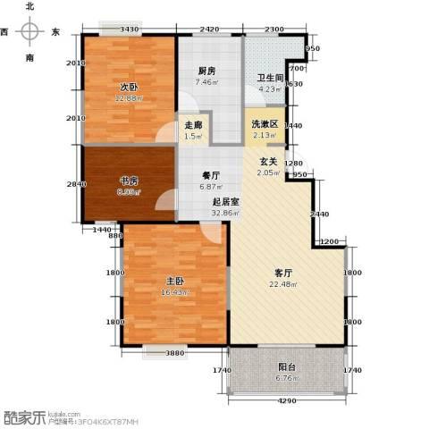 怡林花园3室0厅1卫1厨96.26㎡户型图