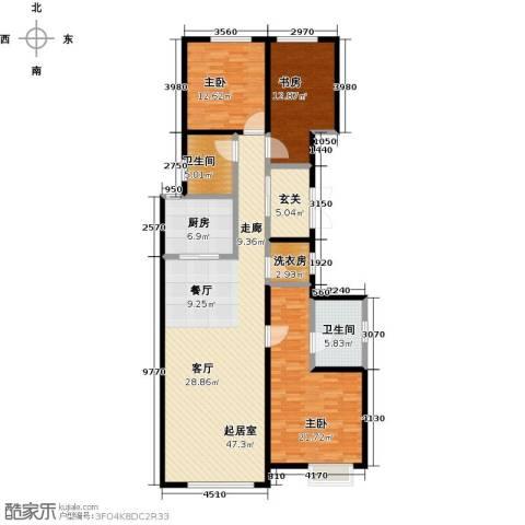 中冶・德贤公馆3室0厅2卫1厨169.00㎡户型图