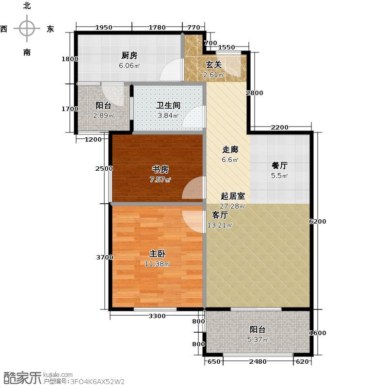 统建天成美雅7号楼G2户型2室1卫1厨