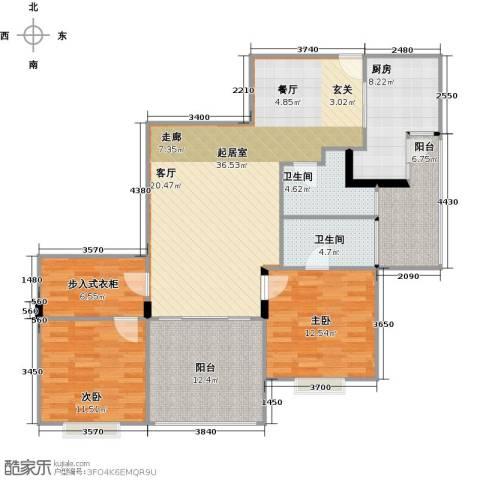 荟锦2室0厅2卫1厨122.00㎡户型图