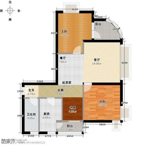 荟锦2室0厅1卫1厨88.00㎡户型图