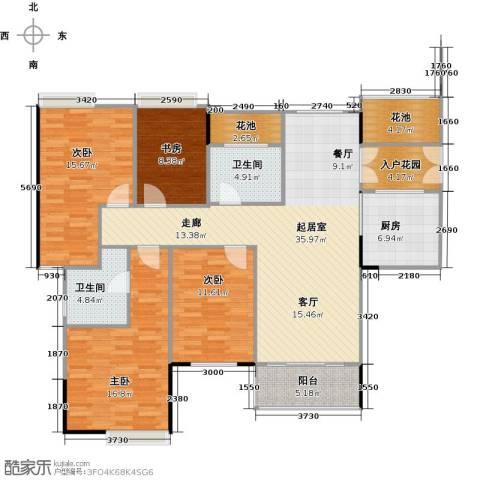 睿山4室0厅2卫1厨133.00㎡户型图