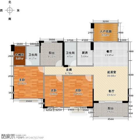 广州星河・山海湾3室0厅2卫1厨135.00㎡户型图