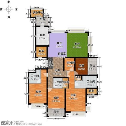 雅戈尔东海府4室0厅3卫1厨209.00㎡户型图