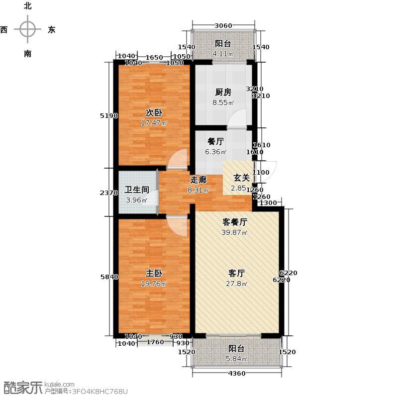 尚北青年公寓(鑫基家属小区)户型2室1厅1卫1厨