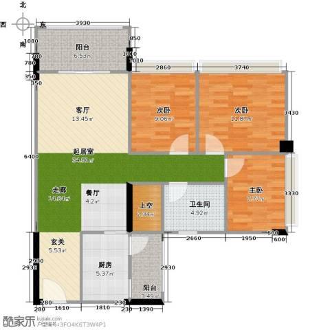阳光海岸二期悦湾3室0厅1卫1厨118.00㎡户型图