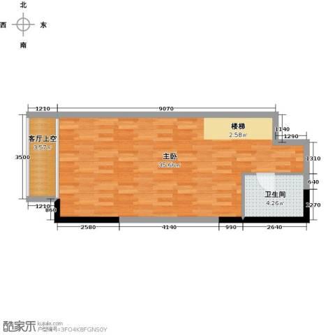 青年工社1室0厅1卫0厨44.00㎡户型图