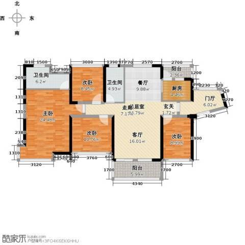 汇龙湾花园4室0厅2卫1厨117.42㎡户型图