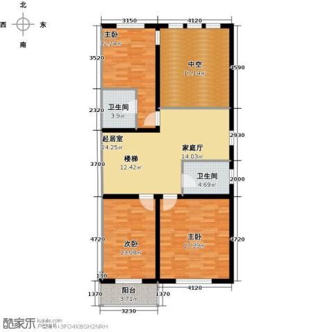 加州水郡3室0厅2卫0厨135.00㎡户型图