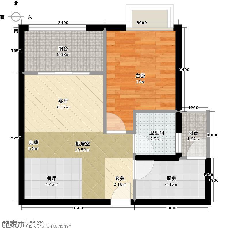 文峰古街2#6号楼A户型1室1卫1厨