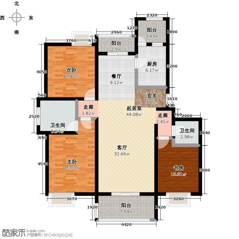 唐樾六和坊142.00㎡10号楼A户型3室2厅2卫