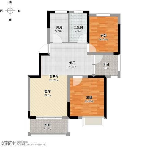 尚海湾豪庭2室1厅1卫1厨102.00㎡户型图