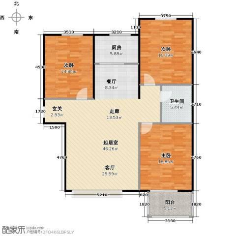 福美公馆3室0厅1卫1厨117.00㎡户型图
