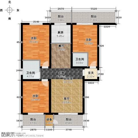 紫晶名门3室0厅2卫1厨141.00㎡户型图