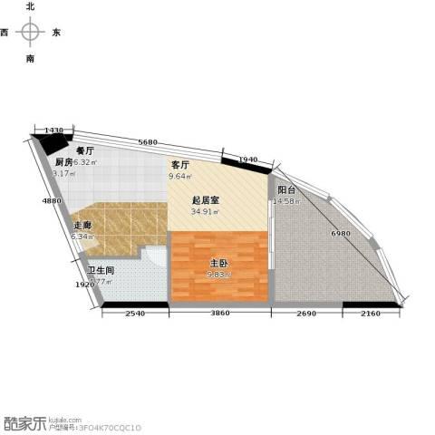 晋唐海湾1卫0厨58.00㎡户型图