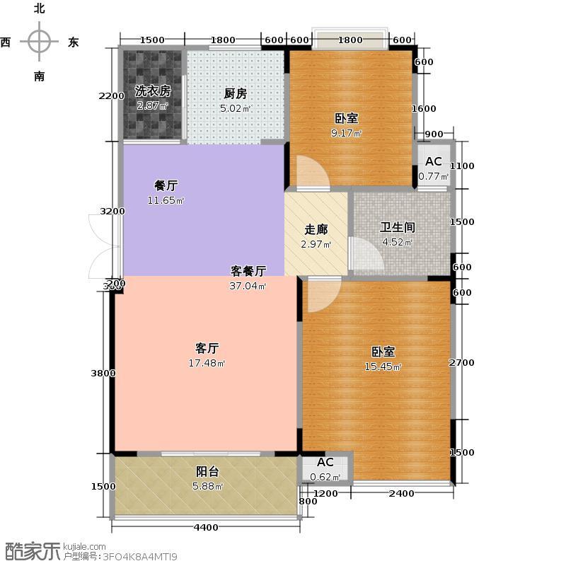润鸿水尚9#E3户型1厅1卫
