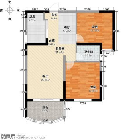 碧桂园十里银滩2室0厅1卫1厨94.00㎡户型图