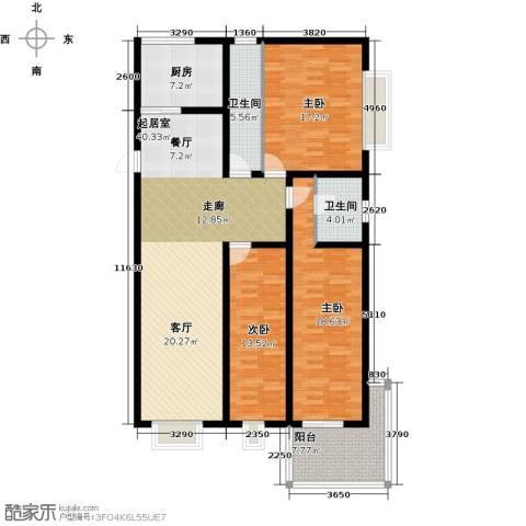 龙海南苑3室0厅2卫1厨130.00㎡户型图