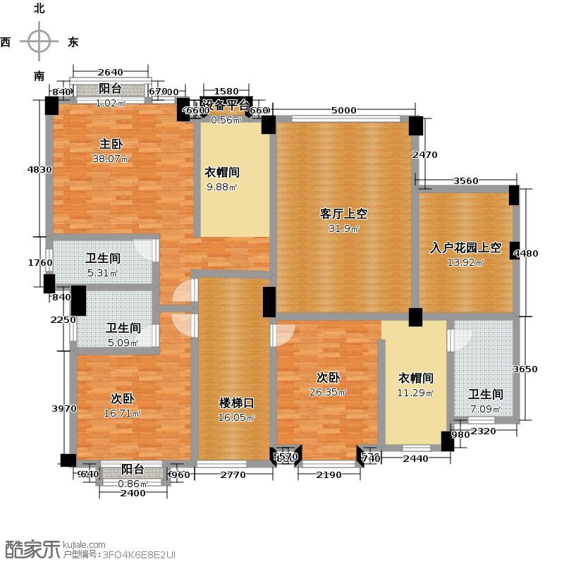 欧亚山庄户型3室3卫