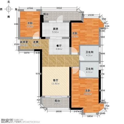 福鼎碧桂园3室0厅2卫1厨113.00㎡户型图