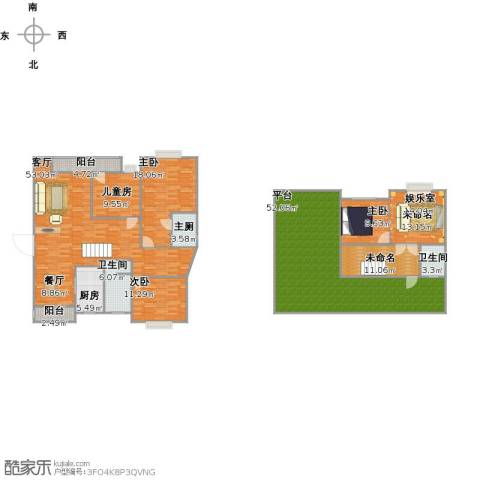 久隆凤凰城4室1厅2卫1厨264.00㎡户型图