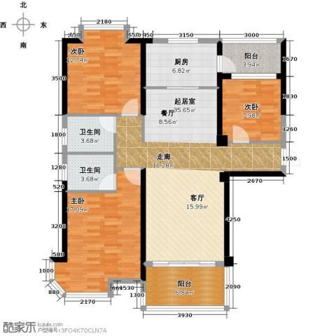 福鼎碧桂园3室0厅2卫1厨125.00㎡户型图