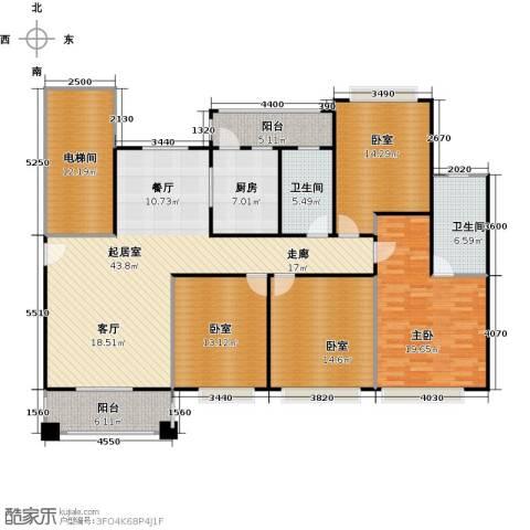 元邦明月金岸1室0厅2卫1厨160.00㎡户型图