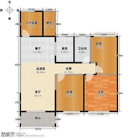 元邦明月金岸1室0厅1卫1厨108.00㎡户型图
