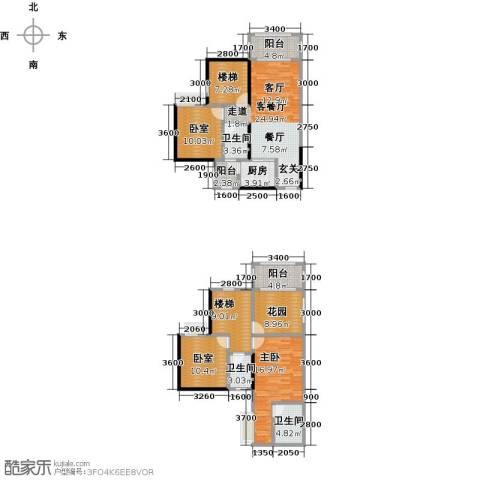 金田花园1室1厅3卫1厨132.00㎡户型图