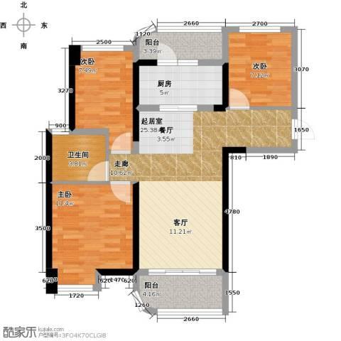 福鼎碧桂园3室0厅1卫1厨89.00㎡户型图