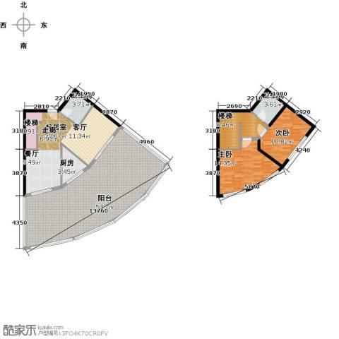 晋唐海湾2室0厅2卫1厨128.77㎡户型图