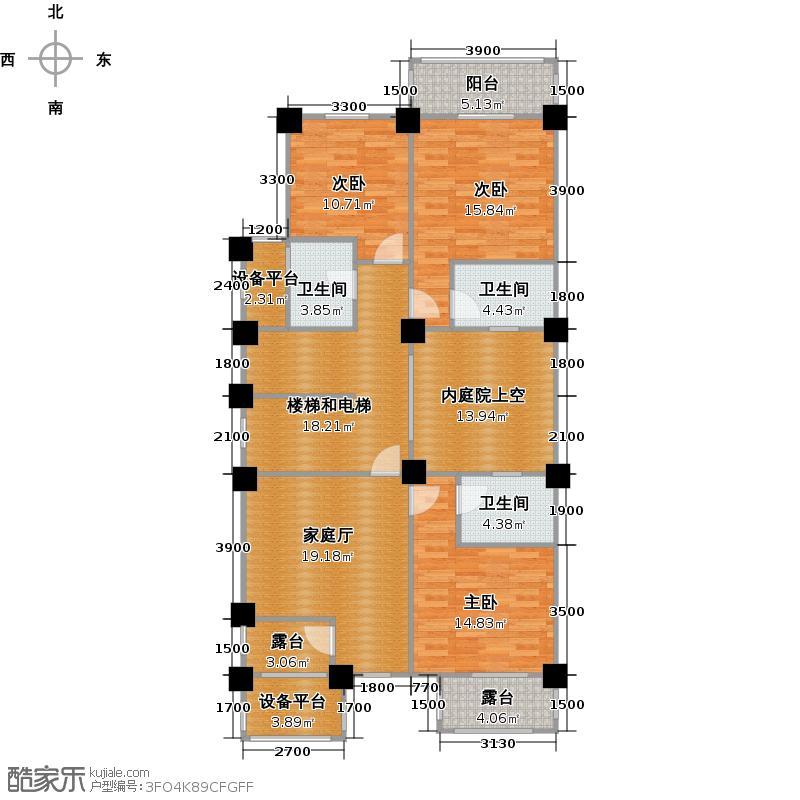 云海湾T4-C-022户型3室3卫