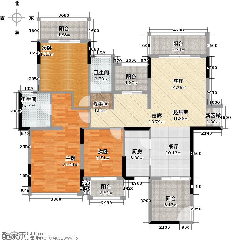 招商观园140.00㎡二期8-9栋1单元_10栋A-B型偶数层3房2厅2卫140㎡设计平面户型3室2厅2卫