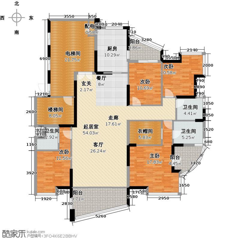 锦绣御园二-二十七层奇数层平面图户型