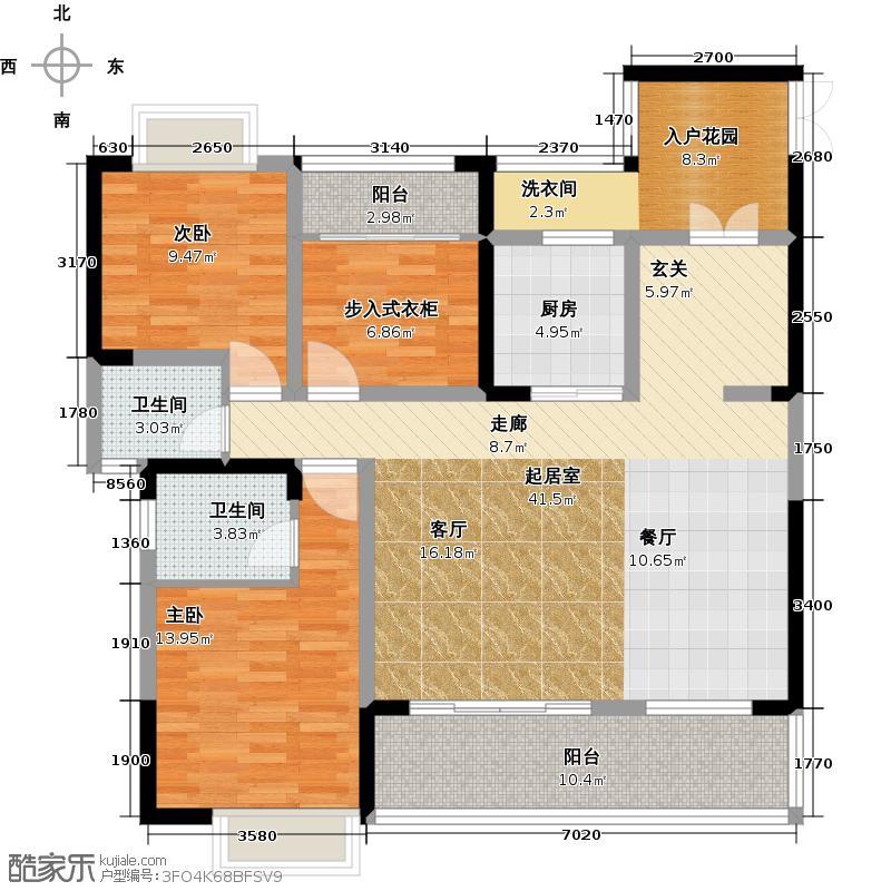 天来国际广场134.80㎡A2户型 四室两厅两卫户型4室2厅2卫